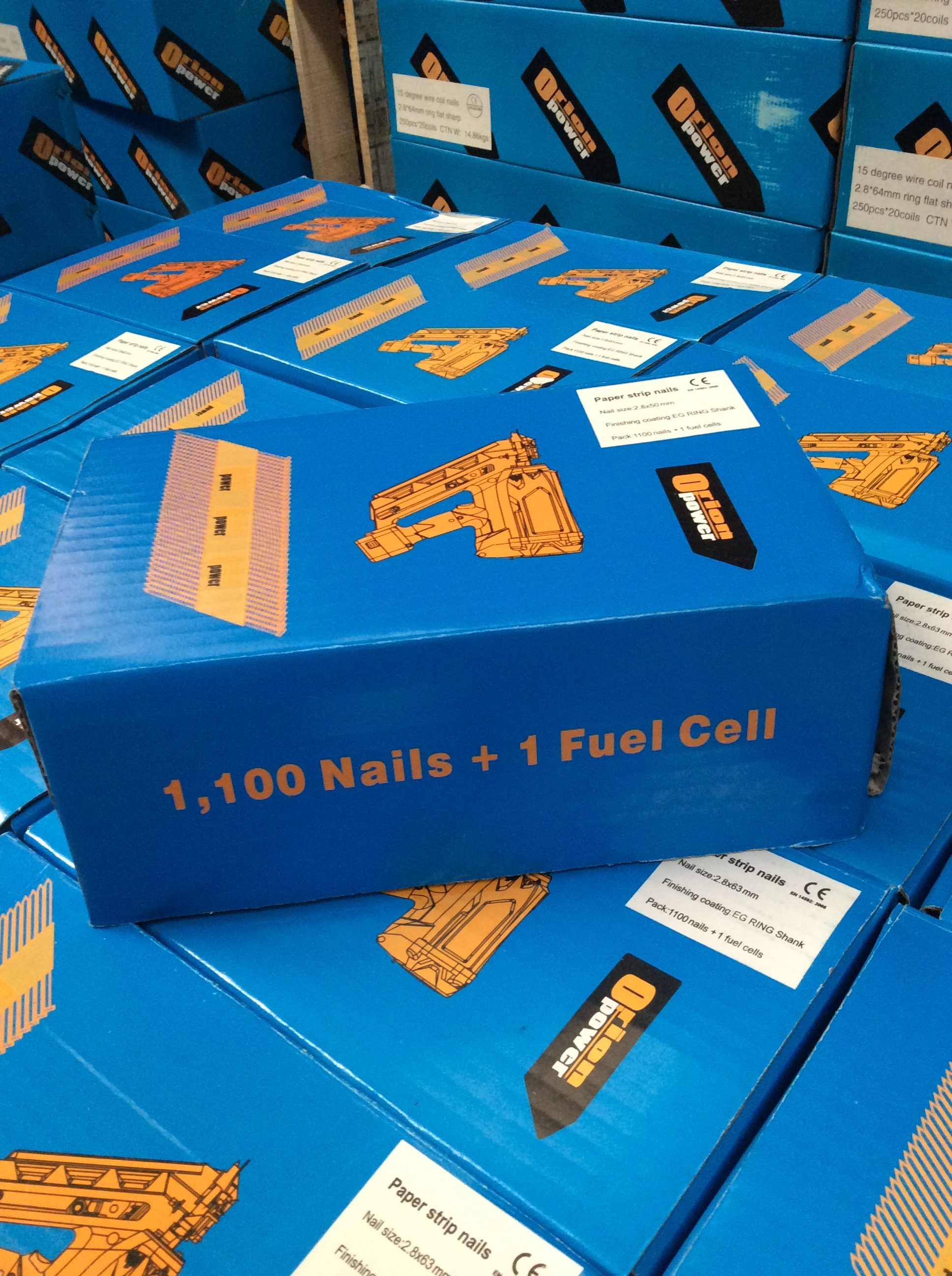 NEXT DAY DELIVERY Paper Strip Paslode Type 1st Fix nails ALL SIZE ORION  Box